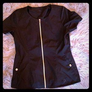 Black JAANUU scrub top